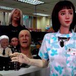 hong kong, nacimiento, robot, enfermera, paciente, covid,