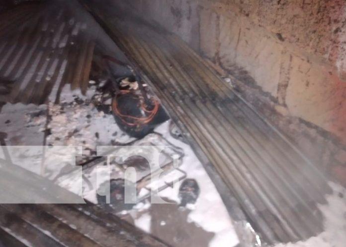 nicaragua, tipitapa, daños materiales, incendio,
