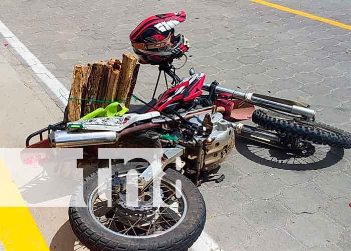 Nicaragua, ocotal, accidente de tránsito, persona lesionada,