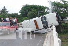 nicaragua, esteli, ambulancia, accidente, puente, rio,