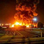 teheran, incendio, refineria de petroleo,