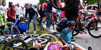francia, bicicleta, ciclista, accidente,