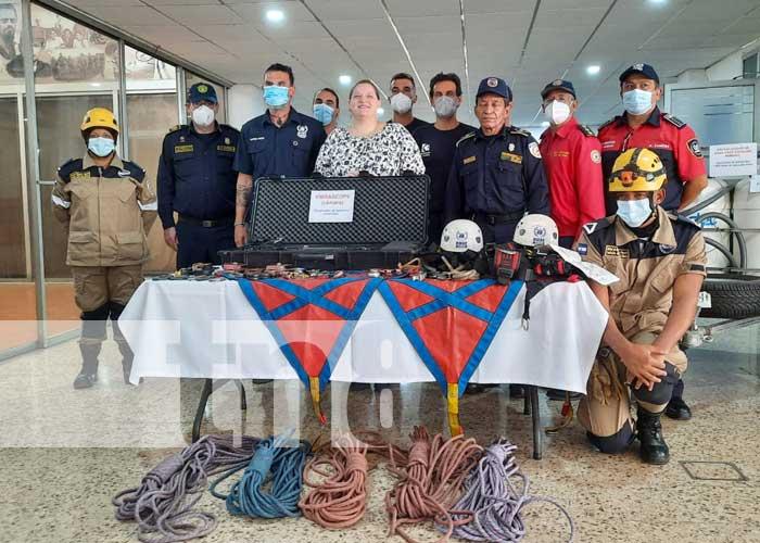 nicaragua, bomberos, capacitacion, espana, seguridad,