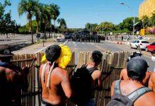 Brasil, policía, represión, indígenas