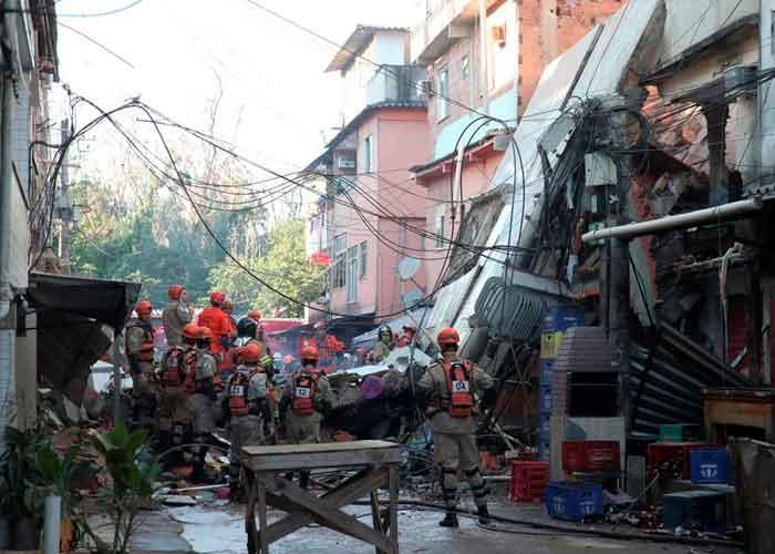 Brasil,  Río de Janeiro, mueren dos personas, derrumbe de edificio
