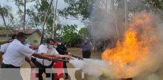 nicaragua, extintores, incendios, migracion, capacitacion,