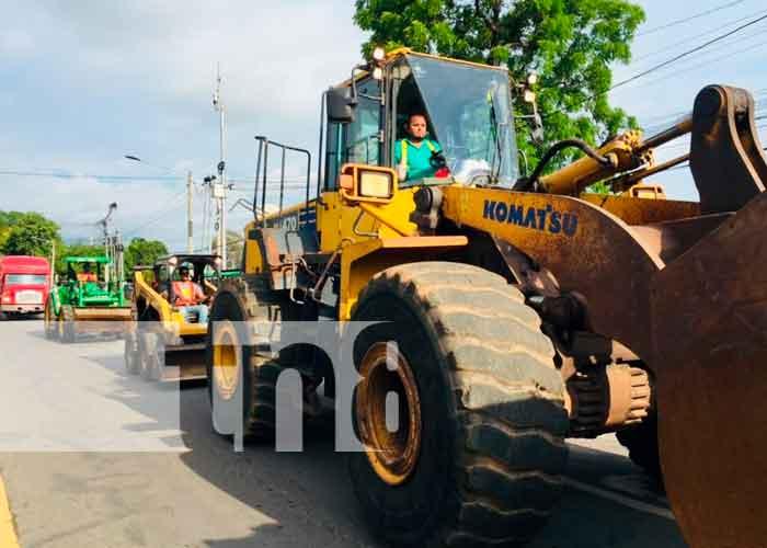 Nicaragua, chinandega, obras de ampliación, carriles,
