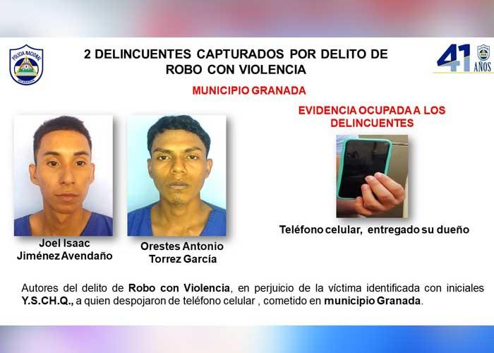 nicaragua, granada, policia, captura, delincuencia,