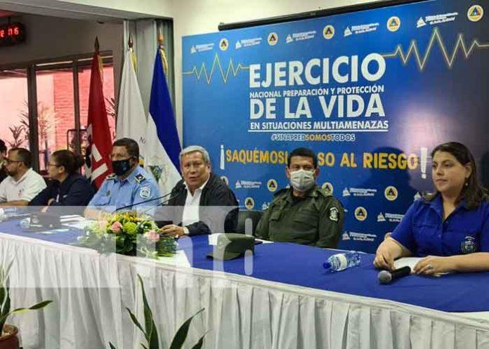 nicaragua, ejercicio, proteccion de la vida, multiamenazas, sinapred,