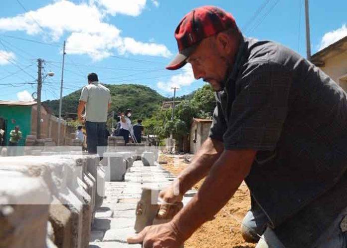 nicaragua, esteli, calles para el pueblo, adoquinado, proyectos, barrio jose benito escobar,