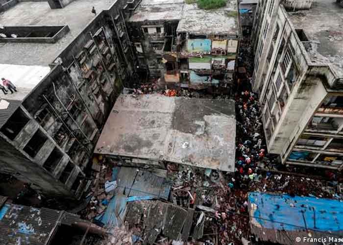 India, bombay, derrumbe de edificio, 11 personas muertas
