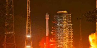 China, tecnología, paracaídas, escombros de cohetes,