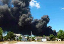 Estados unidos, Illinois, incendio, planta química