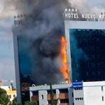 espana, madrid, hotel, incendio, afectaciones, autoridades,
