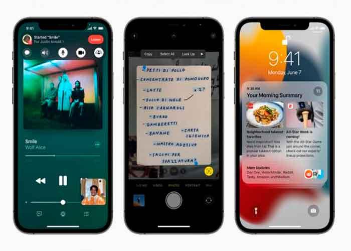 iOS 15, iPhone, Apple, Dispositivos compatibles