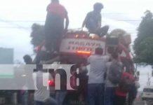 nicaragua, bus, ruta, pasajeros,