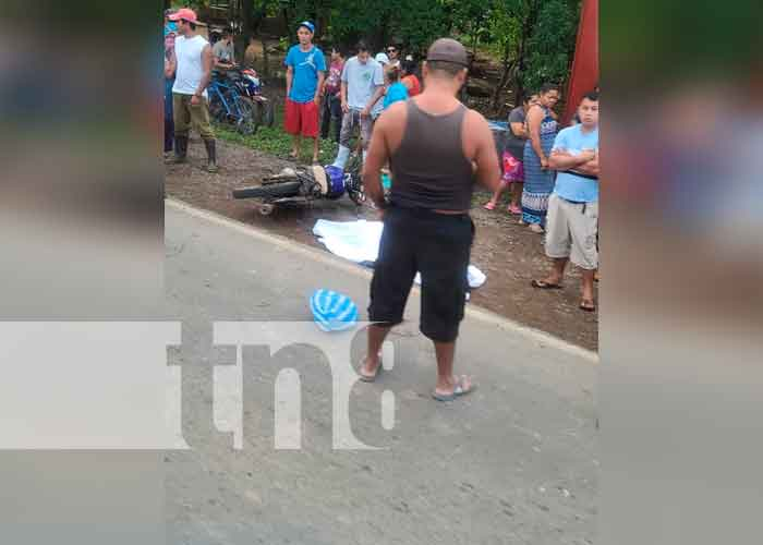 nicaragua, matagalpa, san isidro, accidente de transito, motorizado, deceso,