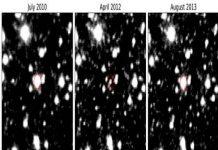 centro galáctico, Estrella gigante, luminosidad, Inusual parpadeo,