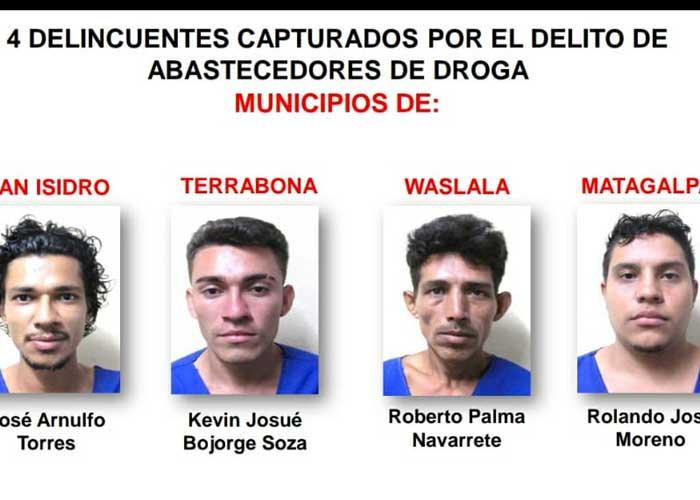 nicaragua, matagalpa, delitos, policia, detenidos,