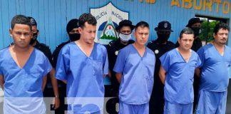 distintos delitos, Nicaragua, Río San Juan, detenidos