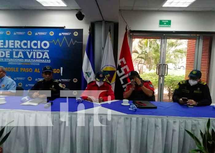 nicaragua, sinapred, protección, ejercicio nacional,