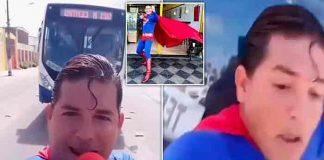 brasil, atropello, superman, comediante,