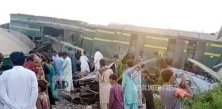 Pakistán, choque de trenes 51 personas fallecidas, rescate,