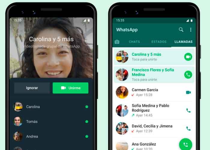 whatsapp, llamadas grupales, nueva funcion, usuarios, tecnologia