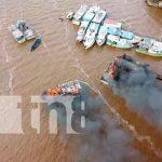 nicaragua, Bluefields, incendio, embarcaciones,