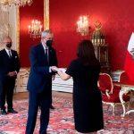nicaragua, cartas credenciales, presentacion, austria, presidente
