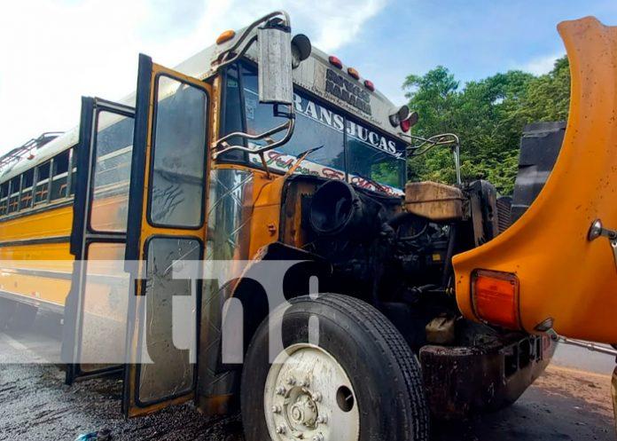 nicaragua, masaya, bus, incendio,