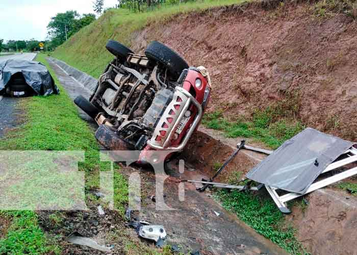 nicaragua, Bluefields, accidente de transito, lesionados, vuelco,