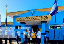 nicaragua, chinandega, Villa 15 de Julio, estacion policial,