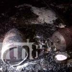 Foto: Fuga de Gas provocó incendio que dejó a una familia sin hogar en Bilwi/TN8