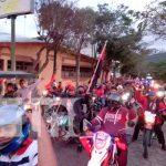 Familias de Jinotega participan de diana revolucionaria