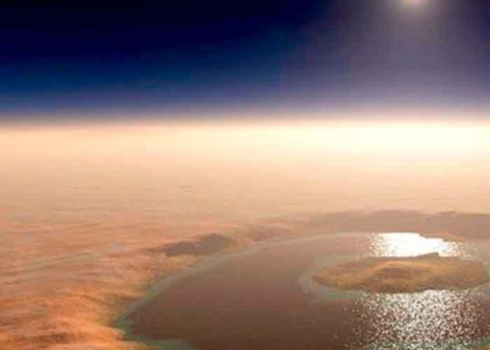 Lago de agua liquida en Martes