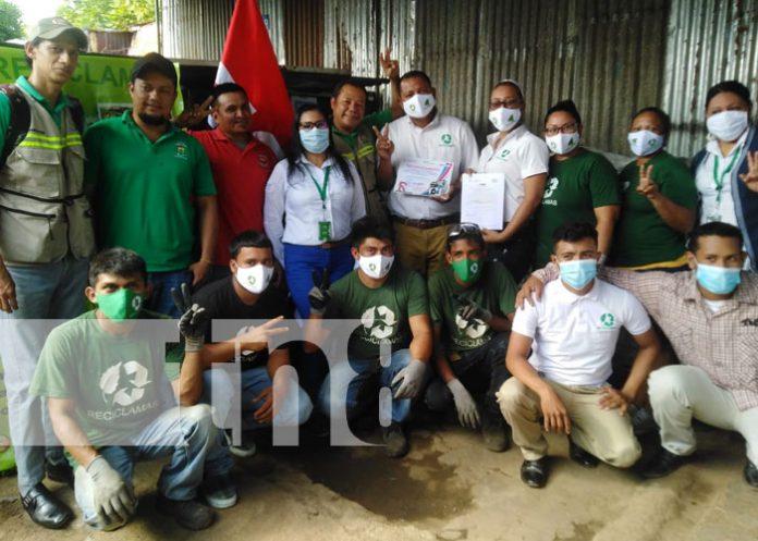 Foto: MARENA entrega primer aval ambiental del año en Ciudad Sandino / TN8