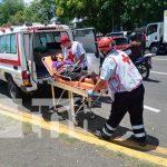 Señora lesionada trasladada a centro hospitalario
