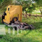 Ven la muerte de cerca tras vuelco de carro entre Sébaco-San Isidro