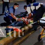 Accidente ocurrido en Rubenia deja a un motociclista en estado delicado