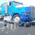 Accidente de tránsito con un cabezal en Managua