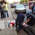 Accidente de tránsito en Managua con un taxi involucrado