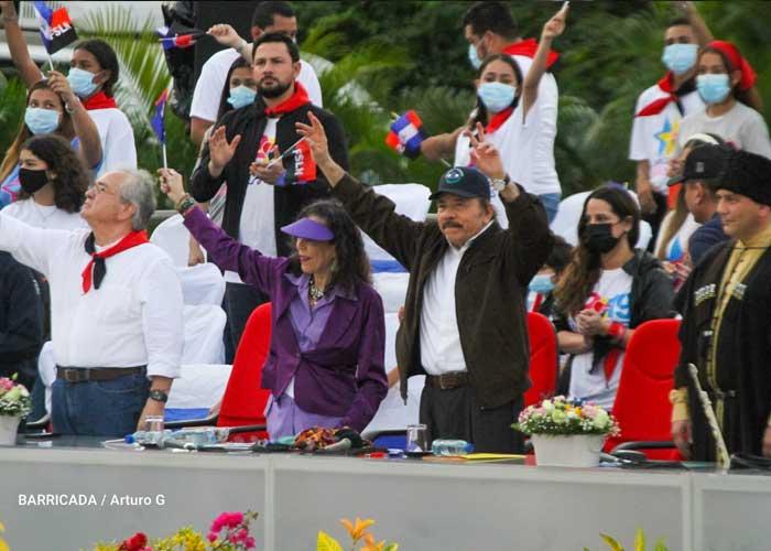 Presidente Daniel Ortega, en acto por la celebración del 42/19 en Nicaragua