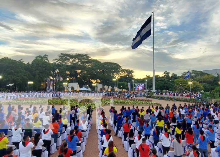 Acto por celebración del 42/19 en Nicaragua