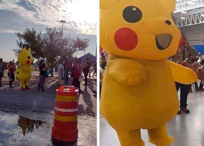 Foto: Hombre llega a vacunarse disfrazado de Pikachu en México / LR