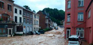 Fuertes lluvias causan inundaciones y graves daños en Bélgica