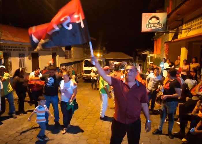 Vigilia en Boaco celebrando 42 aniversario de la Revolución Popular Sandinista