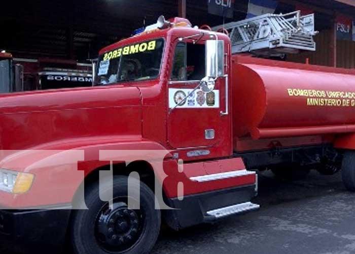 Nuevo camión para bomberos en San Marcos, Carazo