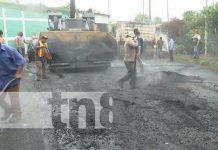 Construcción de nuevas cuadras con calles mejoradas en el barrio El Recreo