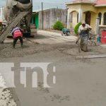Avanzan construcciones de cuadras nuevas de concreto hidráulico en Matiguás / FOTO / TN8